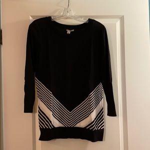Halogen sweater, black & white, Large